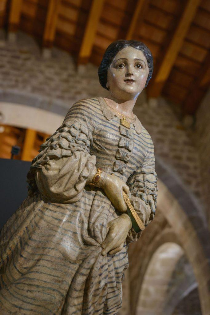 Mascarón de proa de la corbeta Blanca Aurora que representa a Maria Parés, hija del armador y capitán.